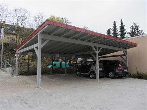 Carport Für 4 Autos by Carport F 252 R 4 Fahrzeuge Mit Pultdach Karst Holzhaus