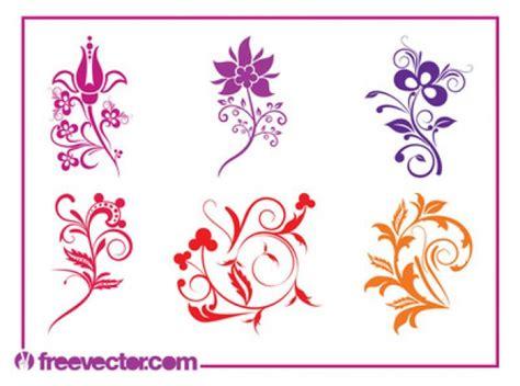 bloemen rand png kleurrijke bloemen vormen met wervelende rand vector