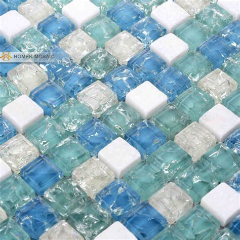 glass tile 12x12 aliexpress com buy mediterranean blue glass mixed stone tile 12x12 wall mosaic tile bathroom