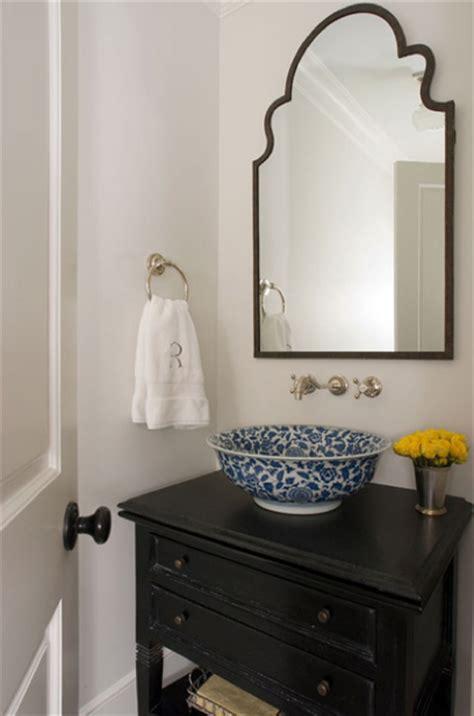 antique bowl sink transitional bathroom jennifer