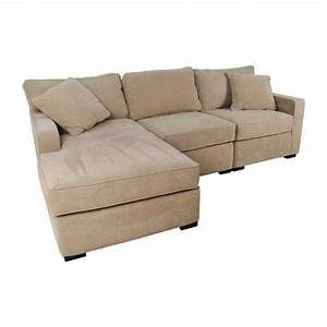 Elegant 37 off macy39s radley 3 piece fabric chaise for Radley sectional sofa dimensions