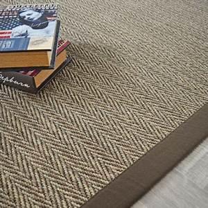 Tapis En Sisal : tapis sisal nairobi chevron ganse coton marron 140 x 200 cm ~ Teatrodelosmanantiales.com Idées de Décoration