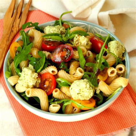 salade de p 226 tes codini fromage de ch 232 vre au pesto et tomates cerises de recettes bio