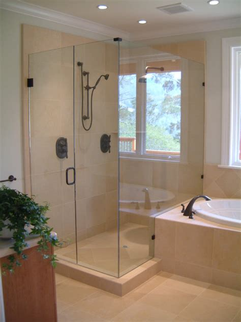 glass shower enclosures traditional shower stalls and