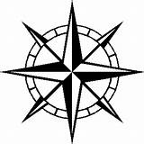 Compass Coloring Rose Tattoo sketch template