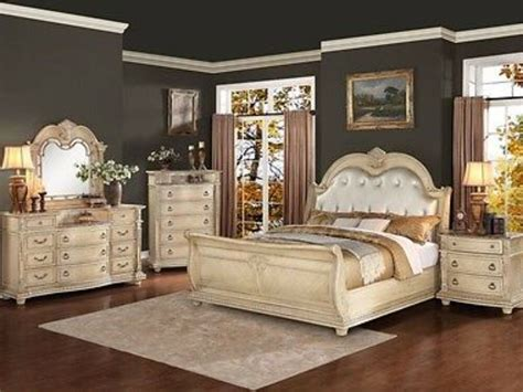 Piece King Size Antique White Bedroom Set Collection