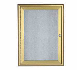 aarco products owfc2418g enclosed bulletin board with With letter board gold frame