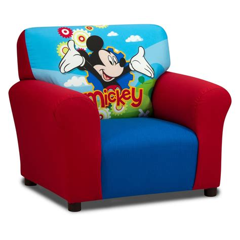 disney mickey mouse club chair kids upholstered chairs
