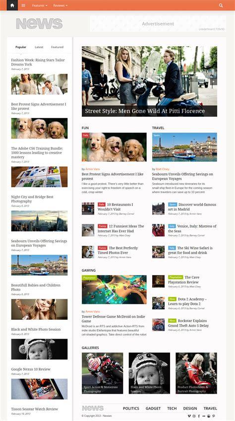 Magazine Wp Themes Fresh News Magazine Responsive Themes