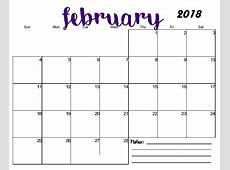 Free Printable Blank Monthly Calendar 2018 Calendar 2018