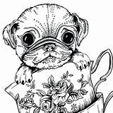 Coloring Pug Pages Cute Dog Adults Baby Printable Print Puppy Colouring Teacup Dogs Sheets Adult Bestcoloringpagesforkids Colorings Puppies Getcolorings Hobi sketch template