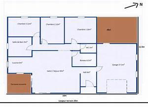 Maison 120m2 Plain Pied : avis premier plan plain pied 120m garage 111 messages ~ Melissatoandfro.com Idées de Décoration