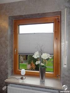 Vorhang Tür Wärmeschutz : sensuna plissees am holzfenster nach ma gefertigt sensuna pleated blind on a wooden ~ Orissabook.com Haus und Dekorationen