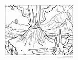 Volcano Composite Drawing Coloring Erupting Getdrawings sketch template