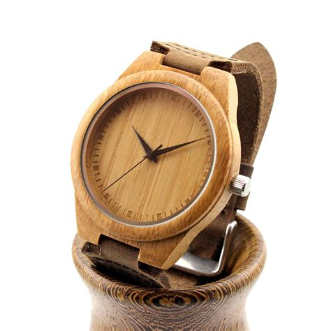 Bamboo Watch For Men & Women  Best Selling  Free Shipping. Hexagon Pendant. Box Necklace. Gold Anklet. Active Bands