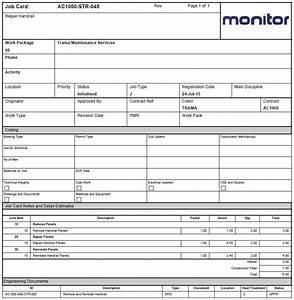 service job card template 4 best professional templates With service job card template