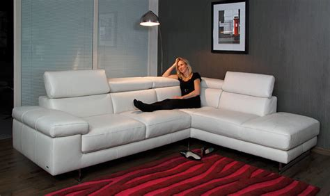 Italian Leather Sofas For Sale by Milano Leather Corner Sofa