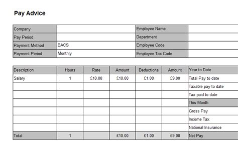Editable Payslip Template by 6 Payslip Templates Word Excel Pdf Templates