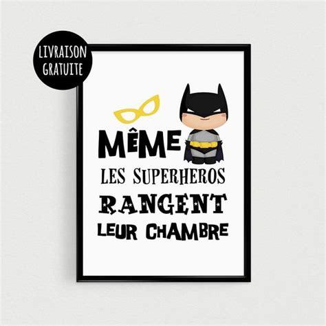 phrase chambre bébé poster a4 superhéros pour enfant quot même les superhéros