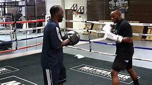 Sean Spencer padwork with Jeff Mayweather Pt. 1 - YouTube