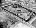 Aerial view of La Brea Tar Pits, Los Angeles, circa 1924.