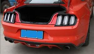 Chrome Interior Accessories Car Trunk Light Trim For Ford Mustang 2015 2016 2017 Car Styling-in ...