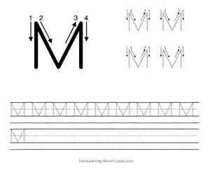 Letter M Writing Worksheets