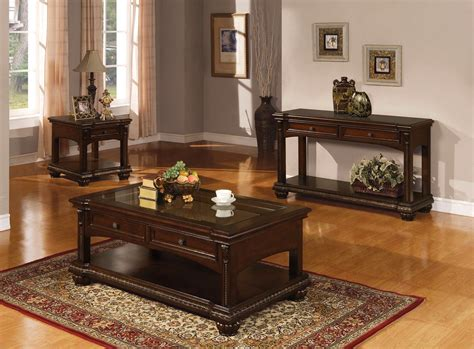 sofa table with bottom shelf sunderland classic cherry veneer 2 drawer sofa table w