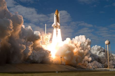 Shuttle launch site Atlantis spaceship space rocket fire