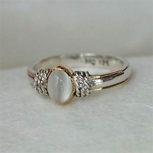 bohamian engagement ring silver 925 gold 18k moonstone With gold silver wedding rings