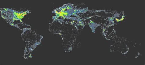 the world of lights the world atlas of the artificial night sky brightness
