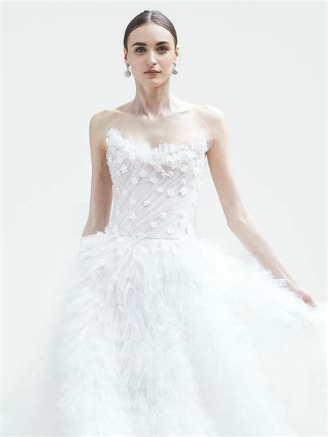 oscar de la renta spring  collection bridal fashion