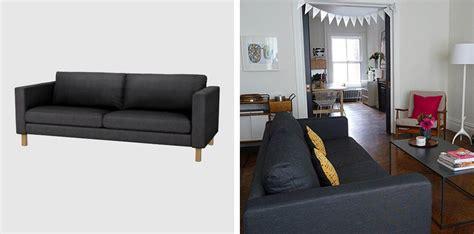 ikea sofa karlstad black white yellow  great
