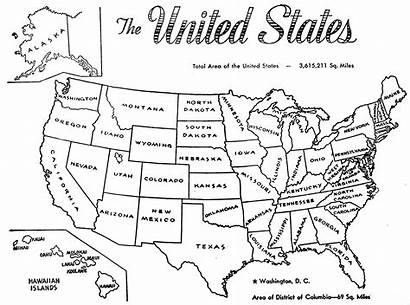 Coloring Map States United Clipart Pages State