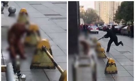 horrifying footage captures chinese policeman clubbing