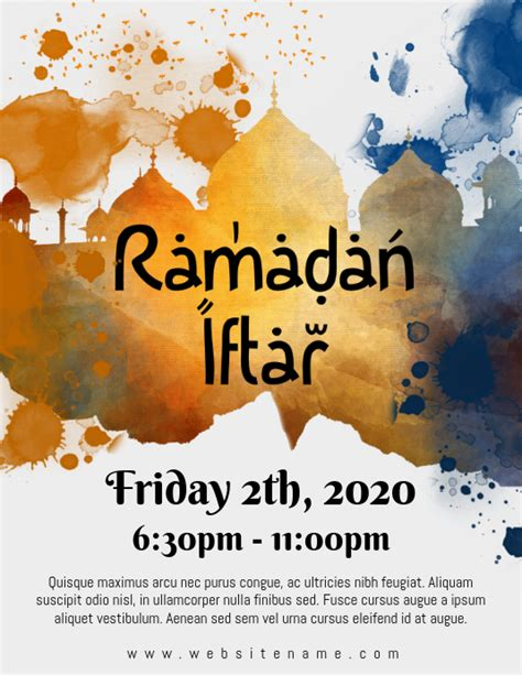 ramadan iftar flyer template postermywall
