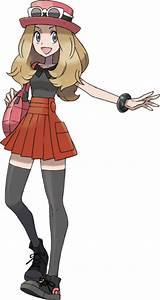 female pokemon trainers serena and hilda by thunderbolt