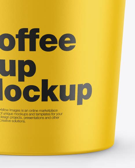 Find & download free graphic resources for mockup coffee. Matte Coffee Cup Mockup in Cup & Bowl Mockups on Yellow ...