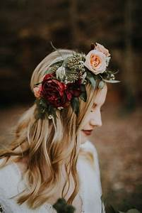 18 gorgeous wedding hairstyles with flower crown page 3