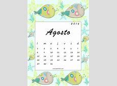 Calendario imprimible mensual + fondo de pantalla agosto