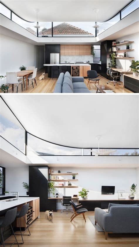 roof    extension curves   provide sunlight   view   original house