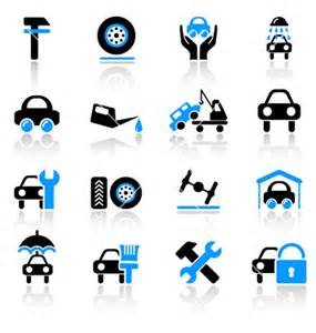 Services Vector Car Icons