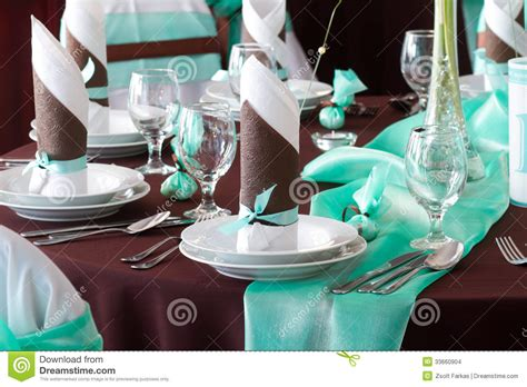 wedding table set with decoration for dining or another catered event stock images image