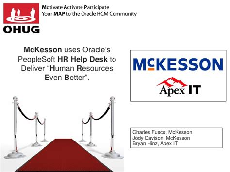 Tjx Service Desk Oracle by Ohug 2012 Hr Help Desk Mckesson And Apex It