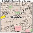 Oceanside California Street Map 0653322