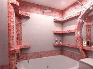Salle de bain mosaique idees et conseils en 23 photos cool for Mosaique rose salle de bain