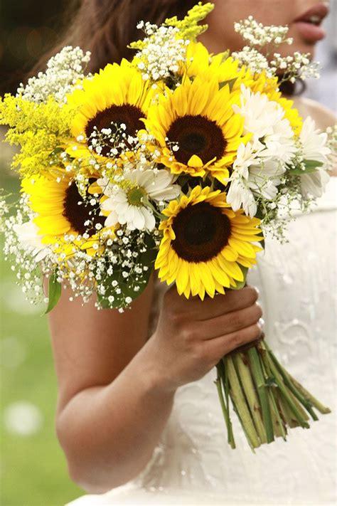 sunflower wedding bouquets ideas  pinterest