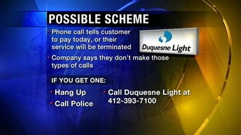 duquesne light customer service duquesne light warns customers of phone scam www wpxi com