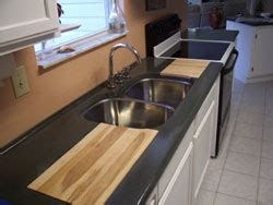 kitchen sink built into countertop 17 best images about concrete countertops on pinterest