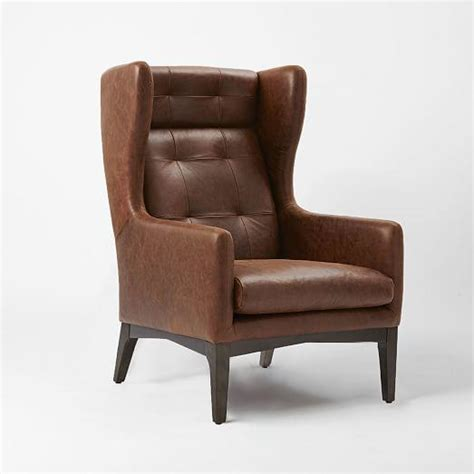 harrison wing chair leather from west elm home